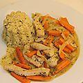 Poulet carottes soja