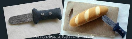 couteau à pain ou à tomate en feutrine