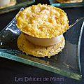 Croustillants de parmesan aux noix de saint-jacques