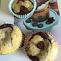 Cupcakes marbrés chocolat et vanille