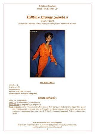 CS 19 tenue complète orange cuivrée silkstone