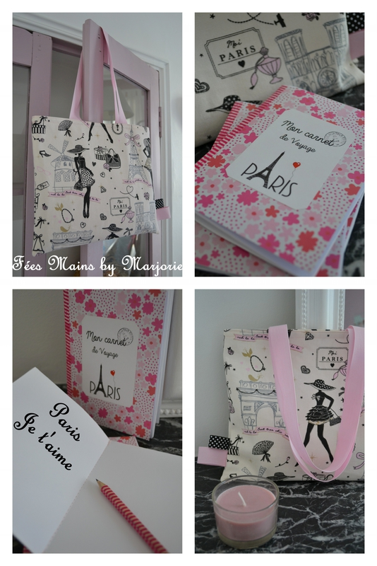 Tote bag et carnet Paris
