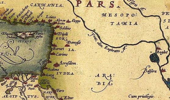 carte Ortelius 1571 détail
