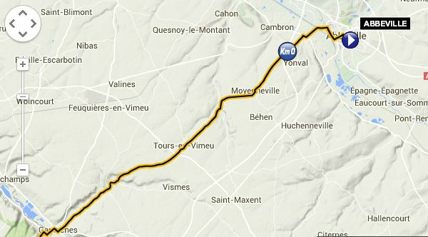 2015 TdF route