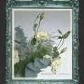 Tableau gris et fleurs