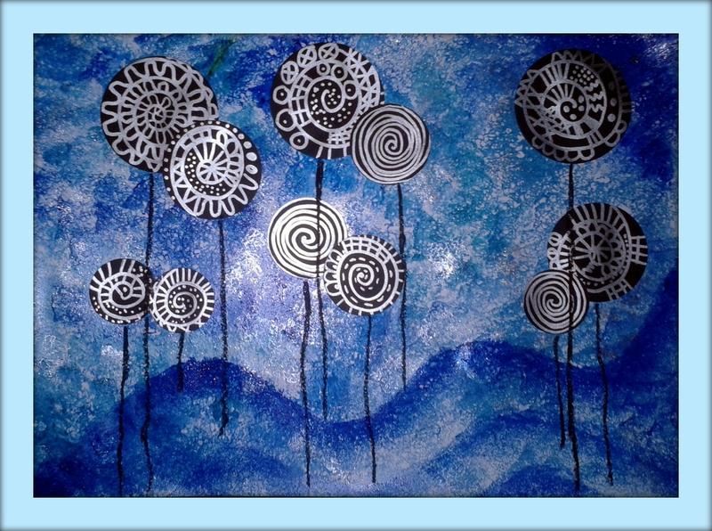 147_Arbres_ Lollipop trees à la manière de Hundertwasser (44C1)