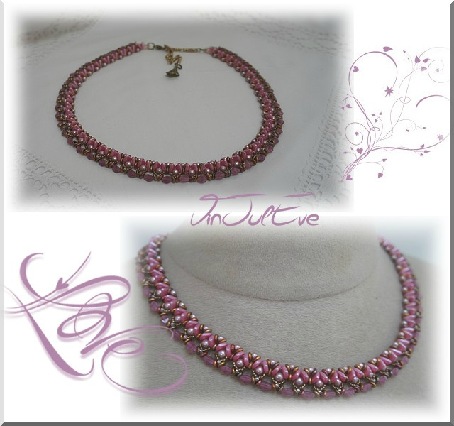 Collier Raia rose