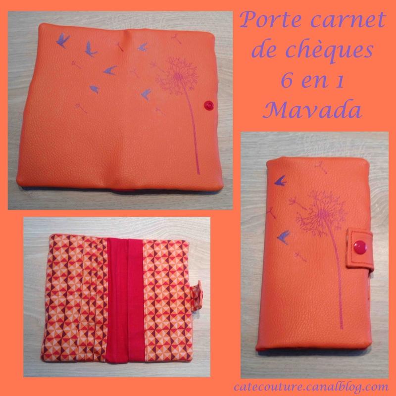 porte carnet de chèque oraange