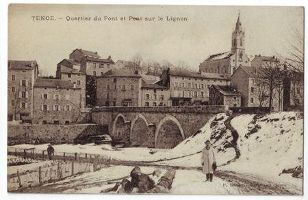 43 - TENCE - Quartier du Pont et Pont sur le Lignon