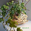 Idée déco pour pâques : faire un nid en raphia et s'en servir comme pot après !