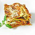 Lasagnes forestieres aux 3 fromages .