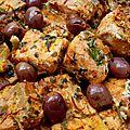 Tajine de saumon aux olives, tomates et citron