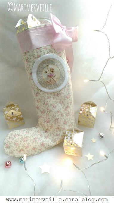 Marimerveille Botte petite Ballerine de Noël