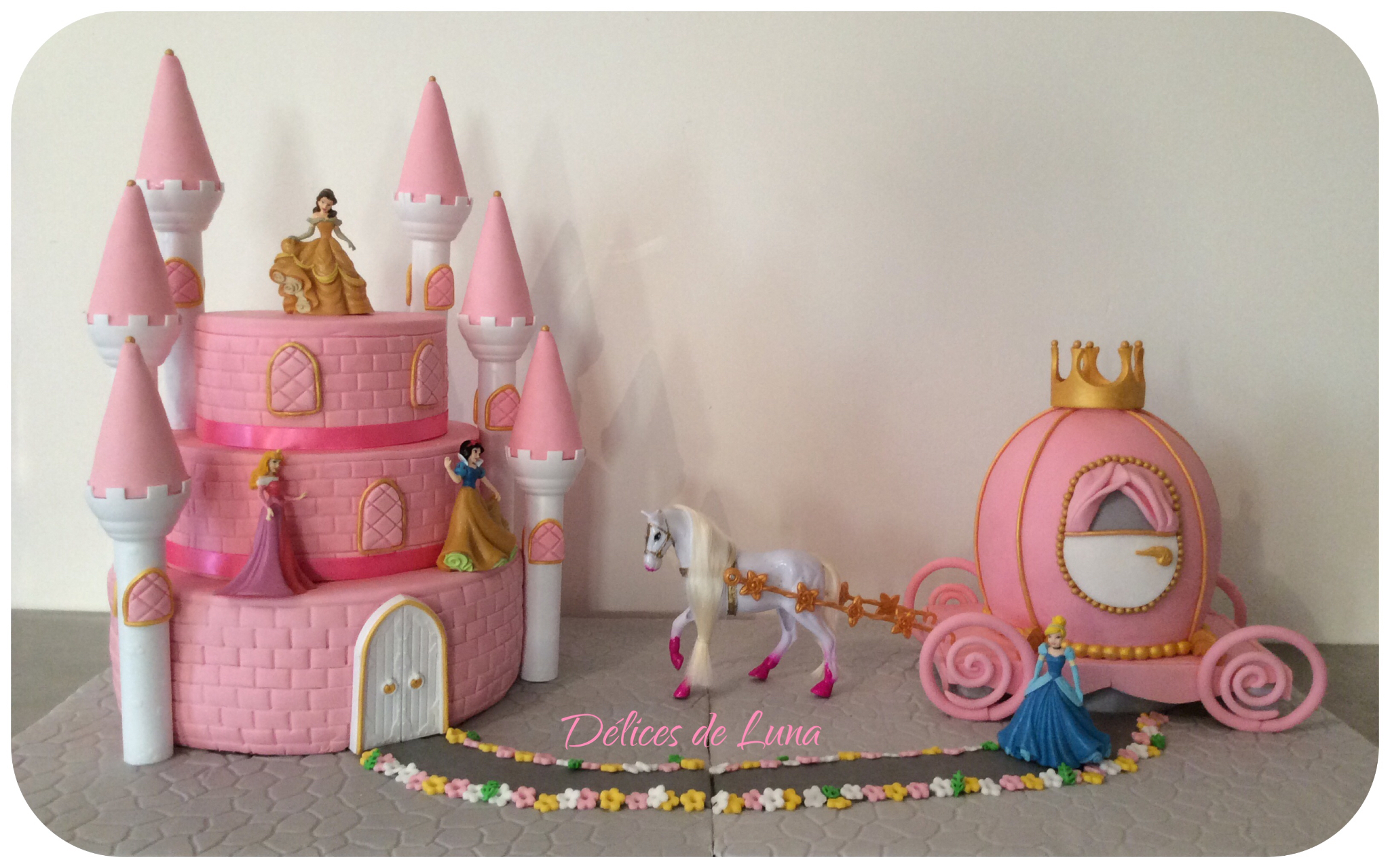 Ch teau et carrosse princesses disney pour premi re for Image chateau princesse