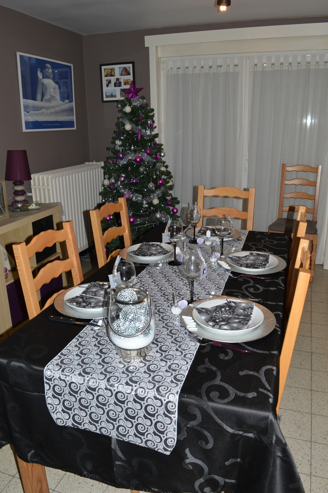 Décoration de table du nouvel an