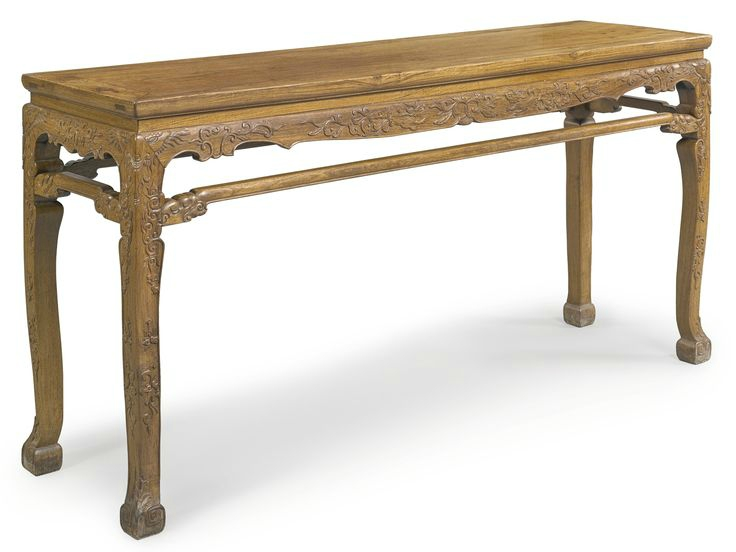 A long huanghuali corner-leg table (tiaozhuo), Qing dynasty, 17th-18th century