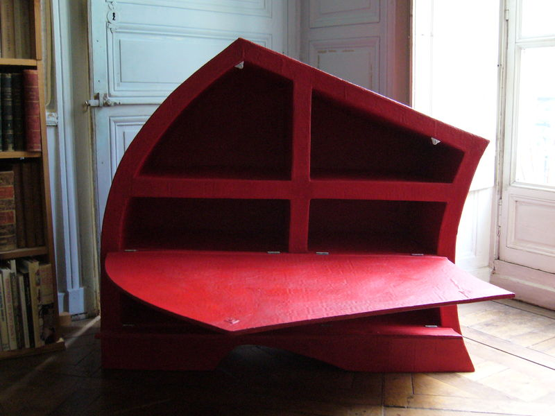 meuble chaussures rouge photo de ranger meubles en carton. Black Bedroom Furniture Sets. Home Design Ideas