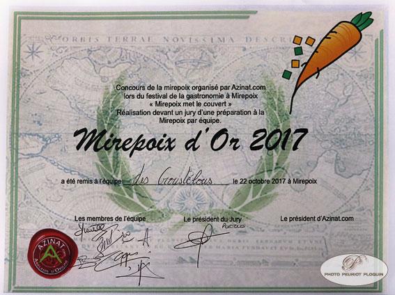 MIREPOIX_fete_de_la_gastronomie_Diplome_de_la_Mirepoix_2017_Lucie_Marcos_et_Quentin_Travers