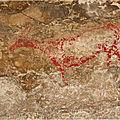 De nouvelles peintures dans la grotte d'el pendo