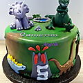 Gâteau dinosaures