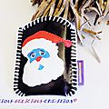 father xmas mobile phone holder black a