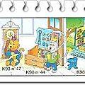 K98-43 à k98-48 chats et meubles de maison série complète