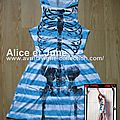 Abbey Dawn Skellie Stripe Dress