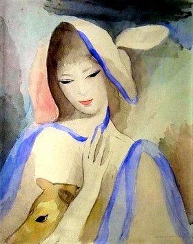 """Bien-aimé Artiste peintre """" Marie Laurencin"""" - ISATIS ET SES AMIS CT09"""