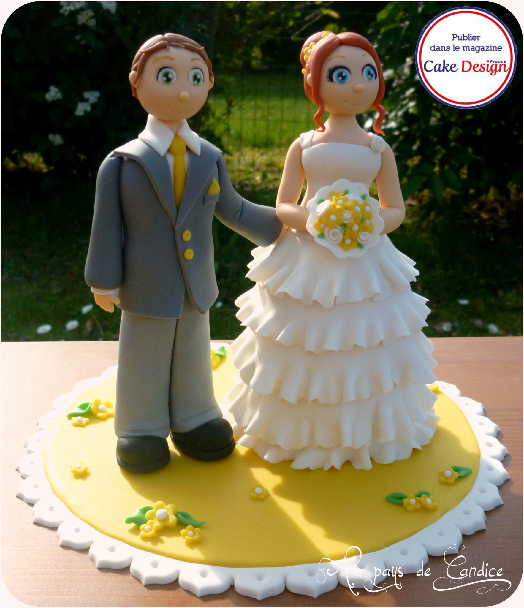 Couple de mariés (Cake Design France)