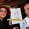 caricaturiste soiree EDF