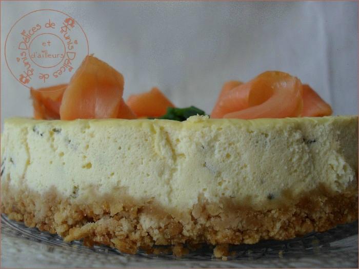 cheesecake salé saumon ciboulette 2