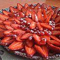 Tarte aux fraises et groseilles