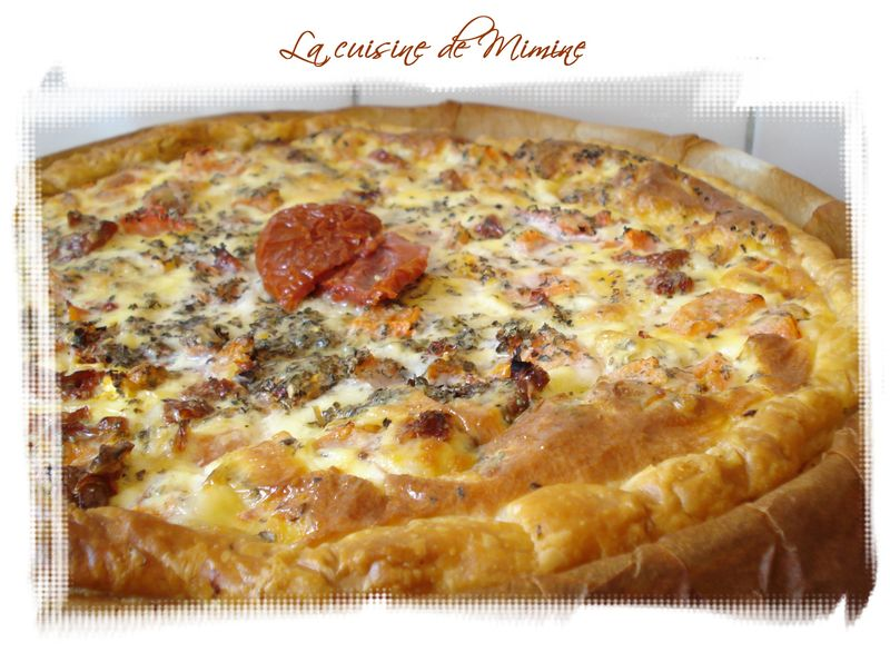 quiche fondante tomate mozzarella de c lignac la cuisine de mimine. Black Bedroom Furniture Sets. Home Design Ideas