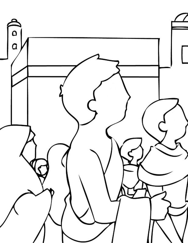 Free The Kaaba Coloring Pages