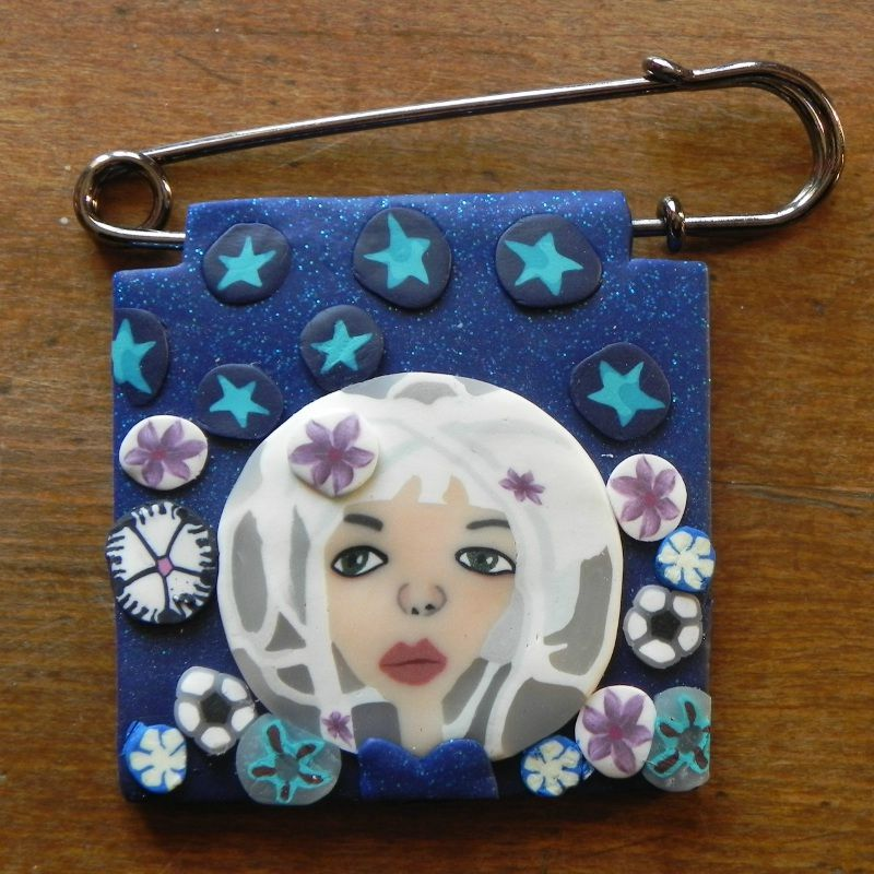 Broche fée blanche