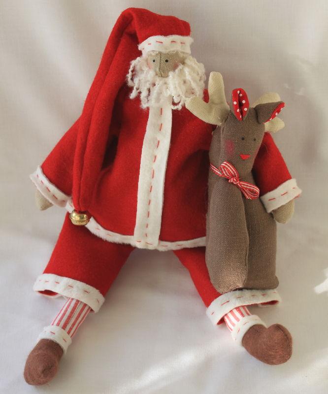 Père Noël en feutrine  Photo de Noël  Fée de Lin & de