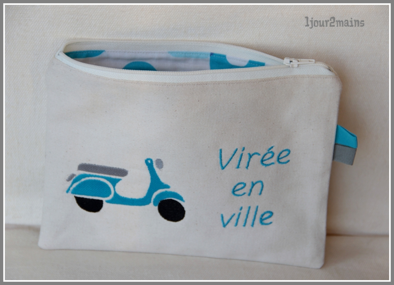 trousse scooter turquoise