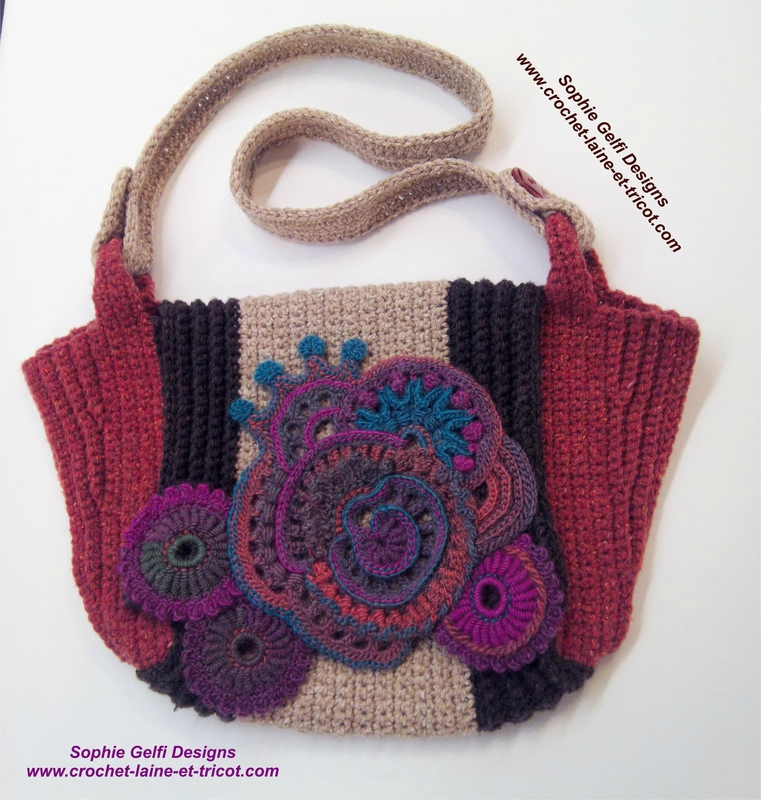 sac crochet handbag freeform 1