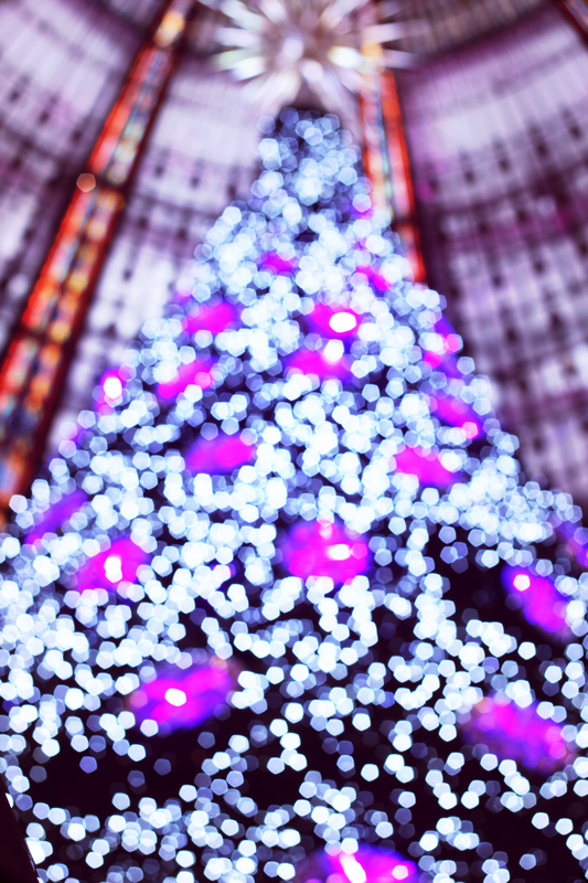 Christmas tree from Galeries Lafayette lights