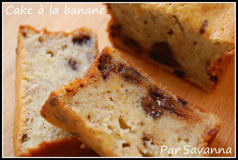 cake la banane et aux p pites de chocolat aiguilles gourmandises. Black Bedroom Furniture Sets. Home Design Ideas