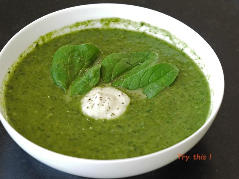 soupe kale épinards