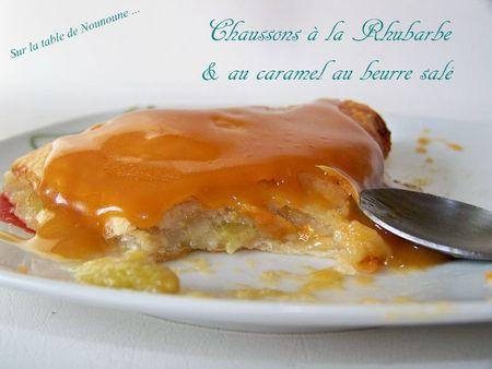 Chaussons à la Rhubarbe et caramel au beurre salé 2
