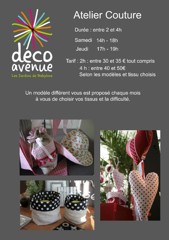 Atelier couture decoavenue le blog for Atelier couture a nantes