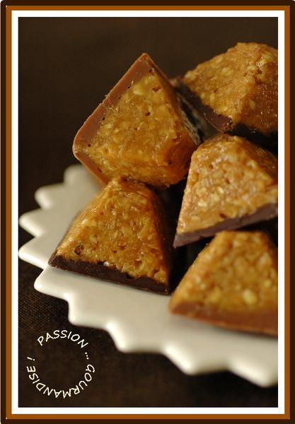 Bouchée d'avoine, caramel & chocolat