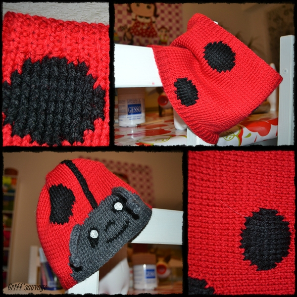 bonnet et snood coccinelle1