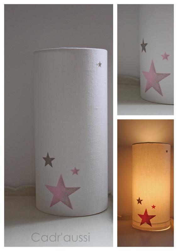 lampe ronde étoiles