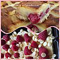 Croque tablette chocolat blanc et fruits rouges