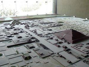 Maquette de la cité de Teotihuacan