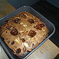 Blondie caramel, cacahuètes et chunks de chocolat noir par nico