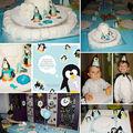 Gâteau banquise et décoration pour les 1 an de mon bello